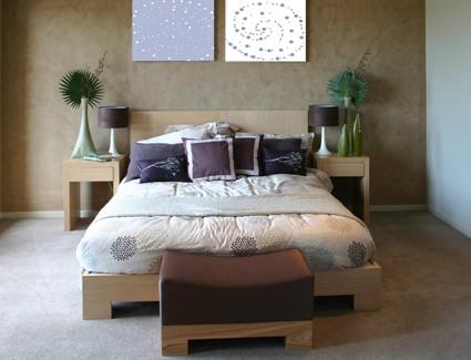 Ložnice přírodní design